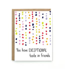 Public School Paper Co. Card - Blank: Exceptional Taste