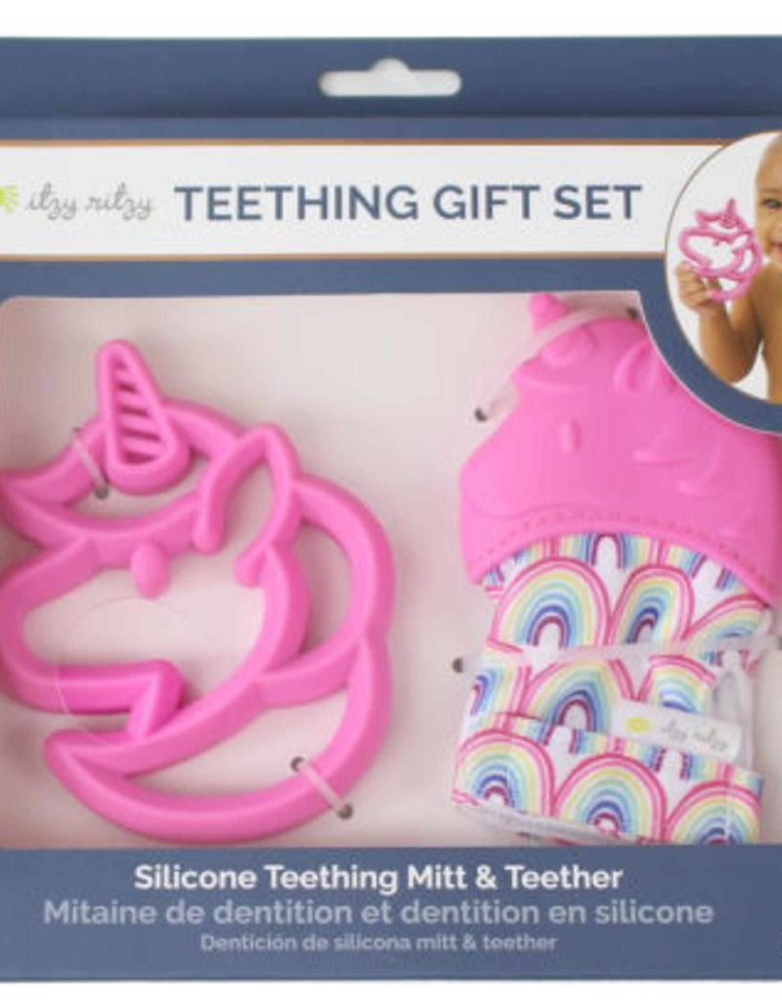 Itzy Ritzy Unicorn Teething Mitt & Teether Gift Set
