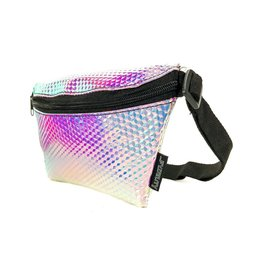 Scratchtracks Ultra Slim Fanny Pack: Interplanetary Voyager Silver