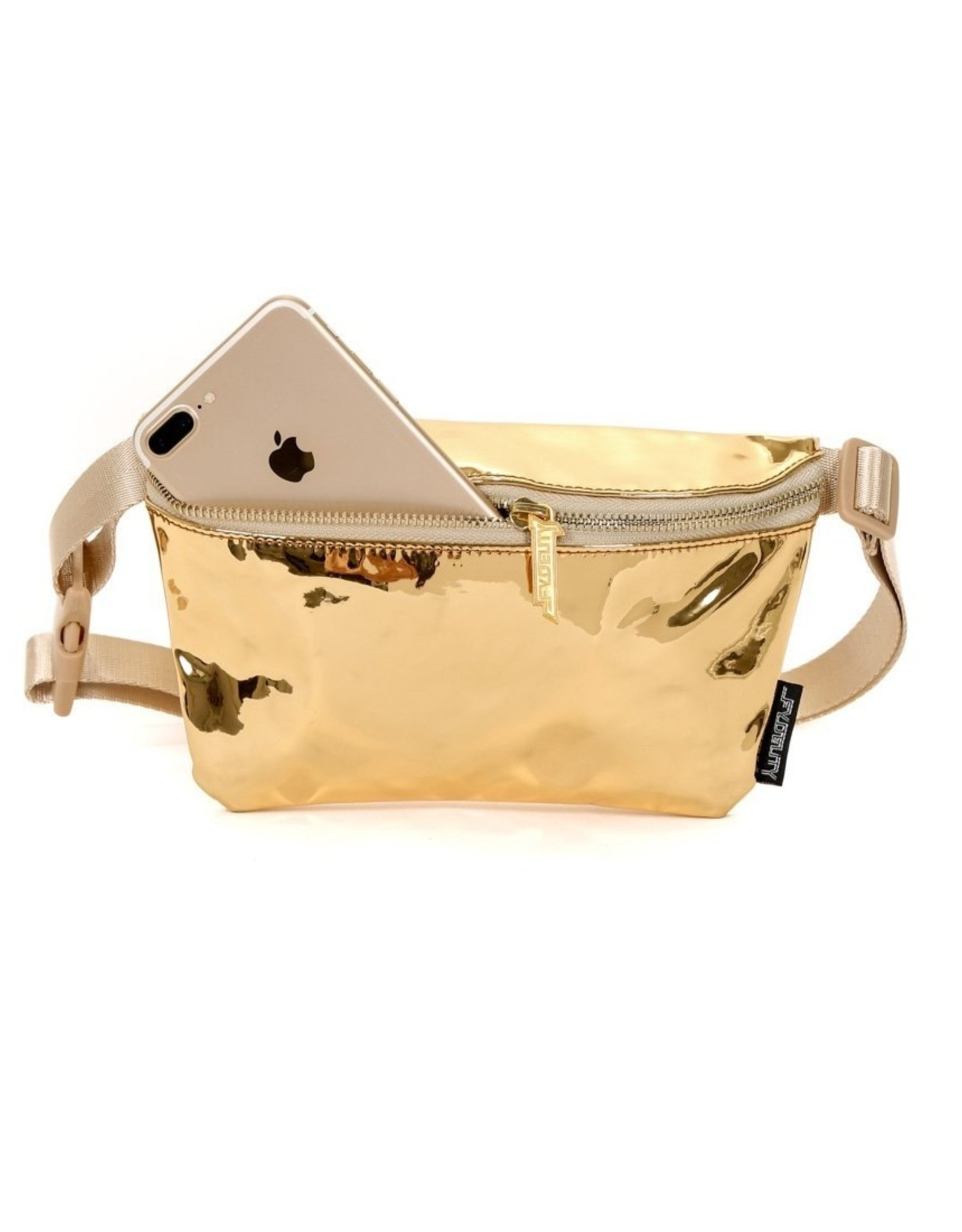 Scratchtracks Ultra Slim Fanny Pack: LUX Mirrored Gold