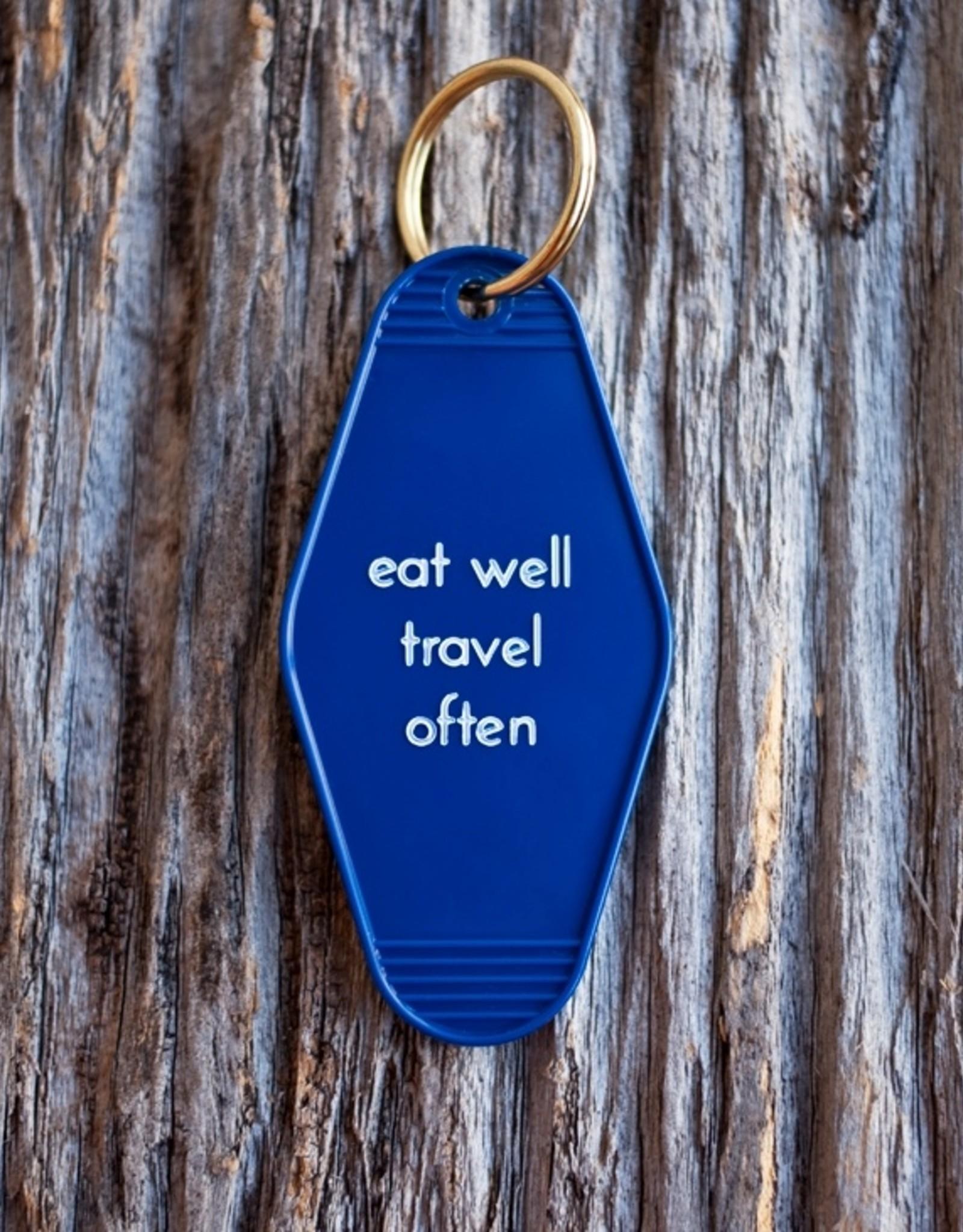 He Said She Said Motel Key Tag - Eat Well Travel Often