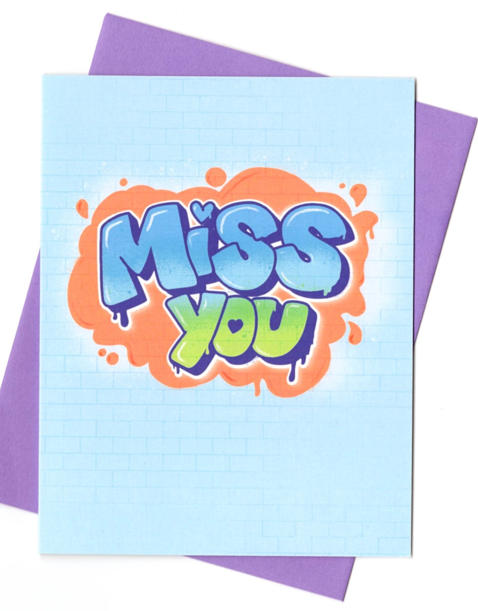 Rhino Parade Card - Blank: Graffiti miss you