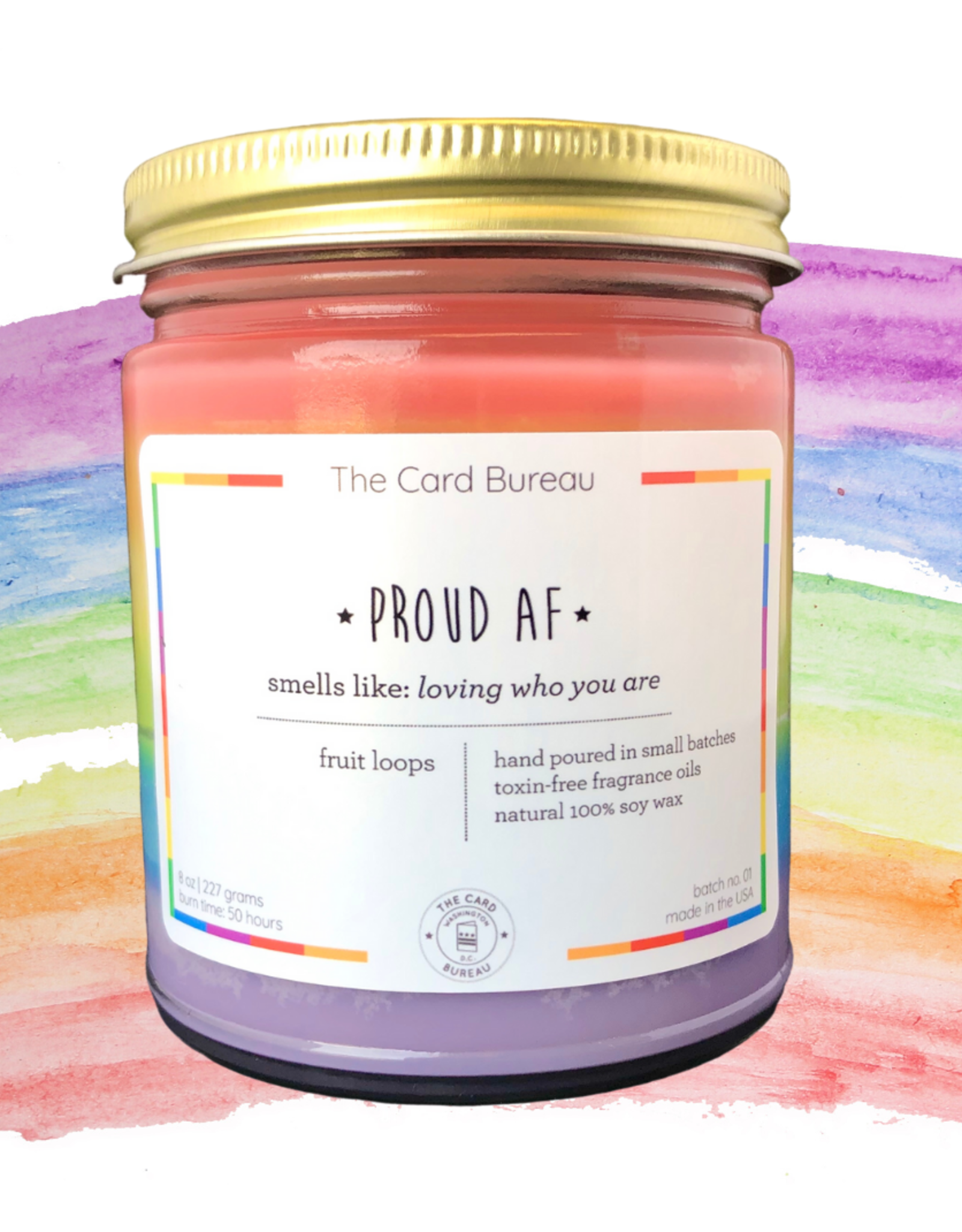 The Card Bureau Candle: Pride