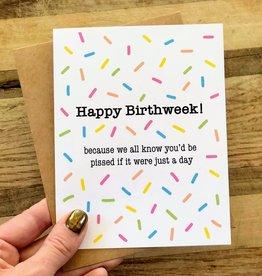 Wild Card Creations Card - Birthday: Birthweek