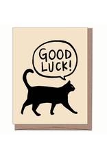 La Familia Green Card - Blank: Good Luck Black Cat