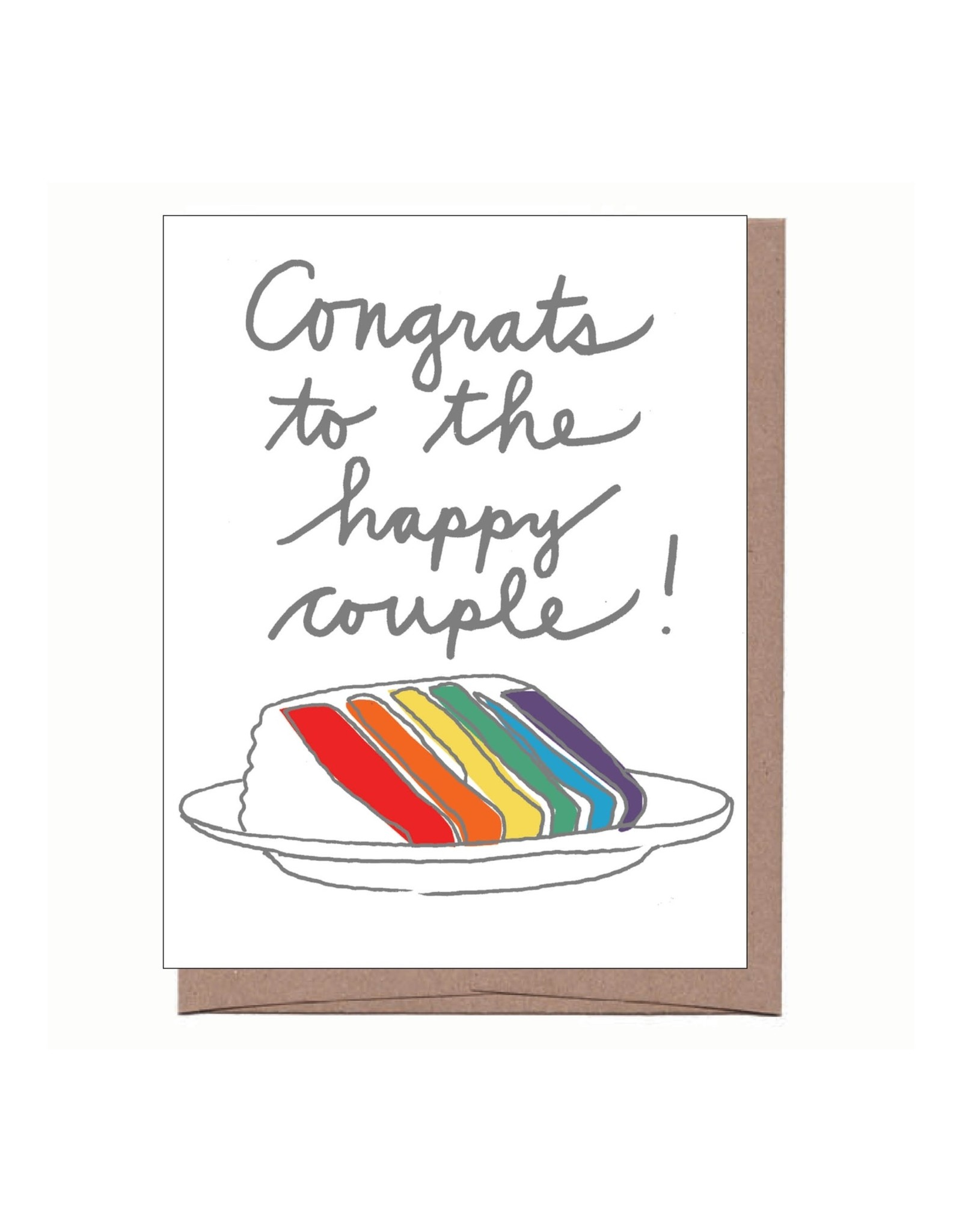 La Familia Green Card - Wedding: Rainbow Cake