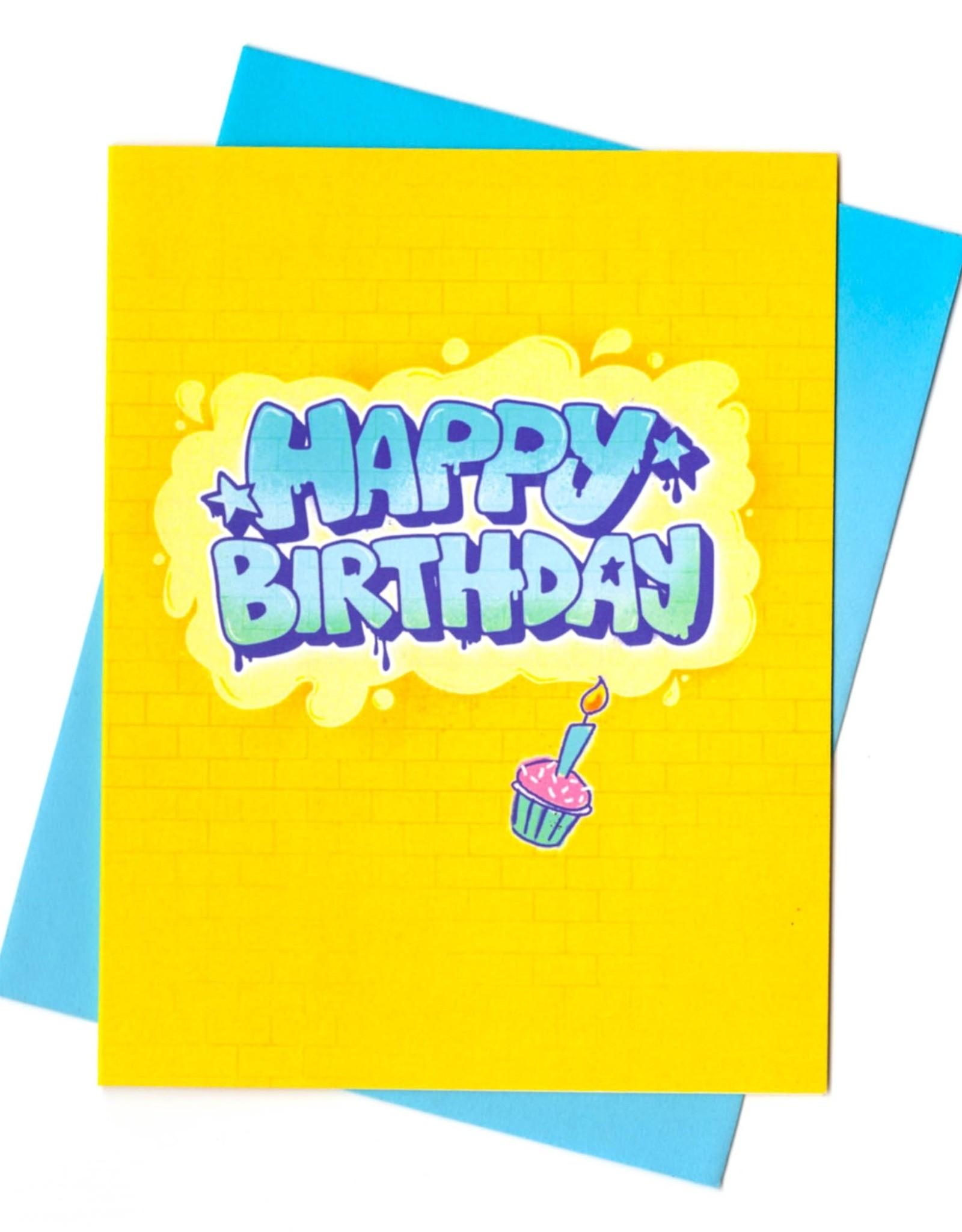 Rhino Parade Card - Birthday Graffiti
