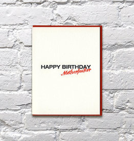 Bench Pressed Card - Birthday: Motherfucker