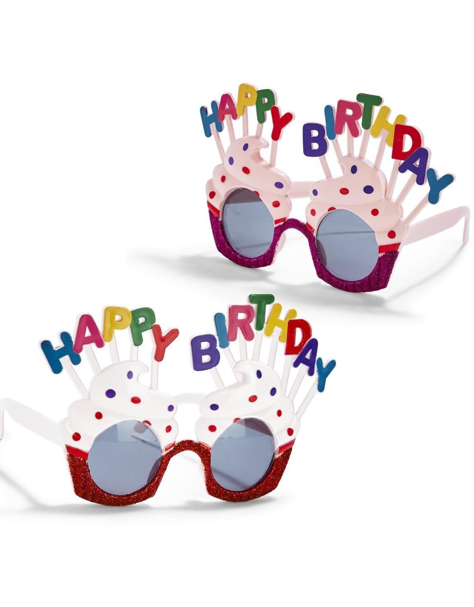 Two's Comapany Happy Birthday Glasses