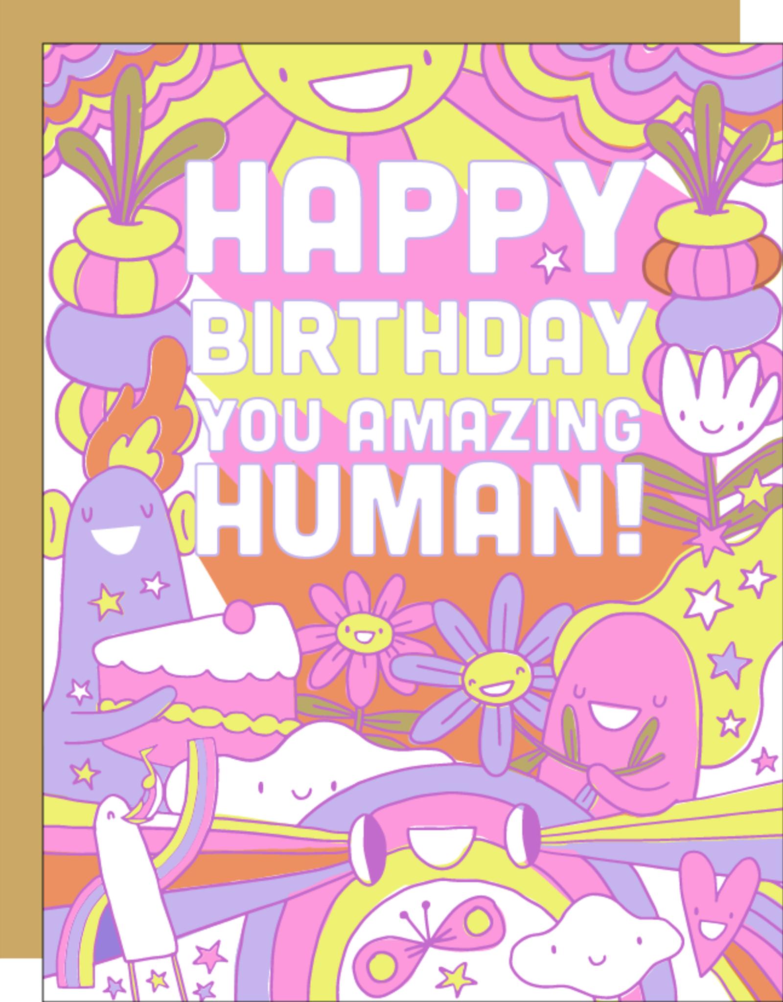 Egg Press Manufacturing Card - Birthday: You amazing human