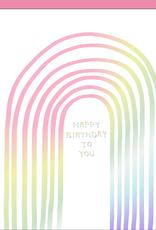 Egg Press Manufacturing Card - Birthday: Metallic Rainbow