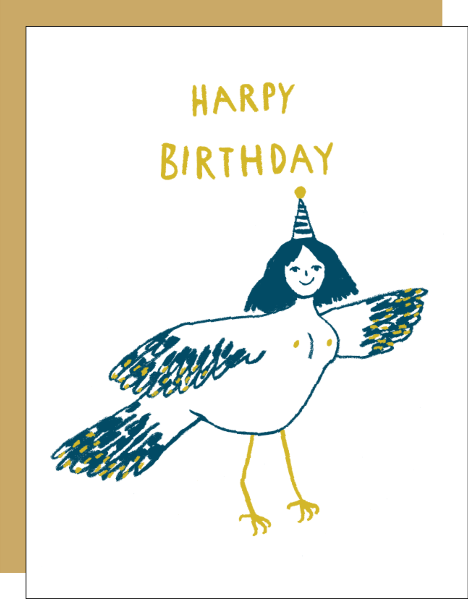 Egg Press Manufacturing Card - Birthday: Harpy Birthday
