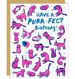Egg Press Manufacturing Card - Birthday: Purr-fect
