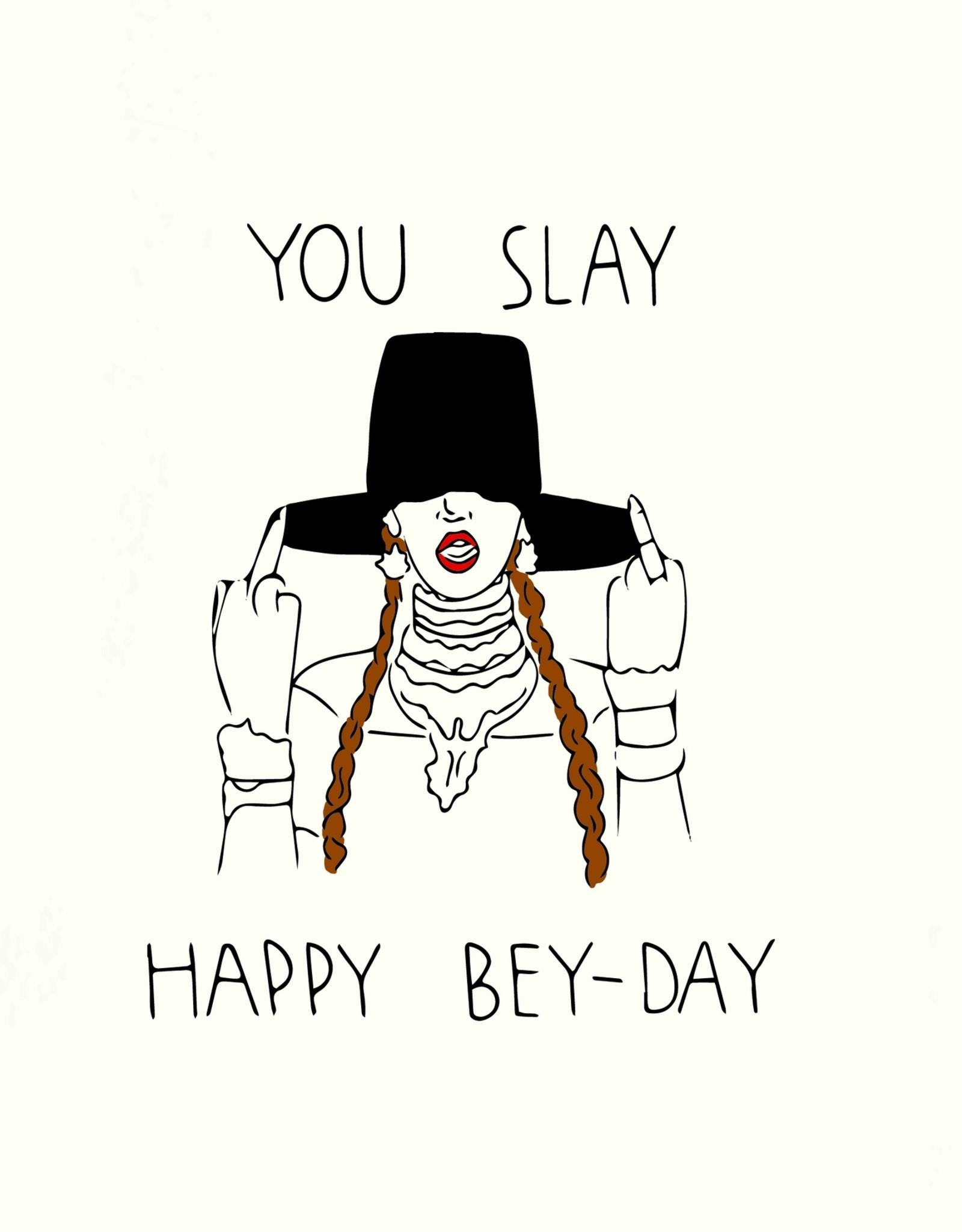 Pop & Paper Card: Birthday - Slay Bey Day