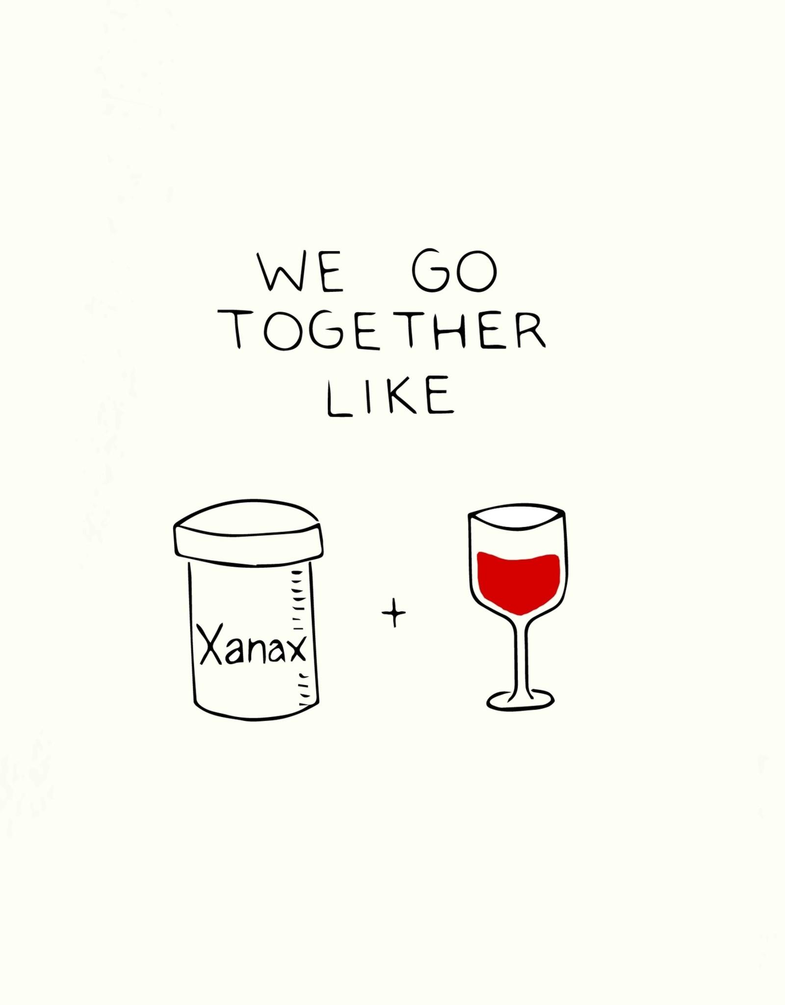Pop & Paper Card: Blank - Xanax Wine