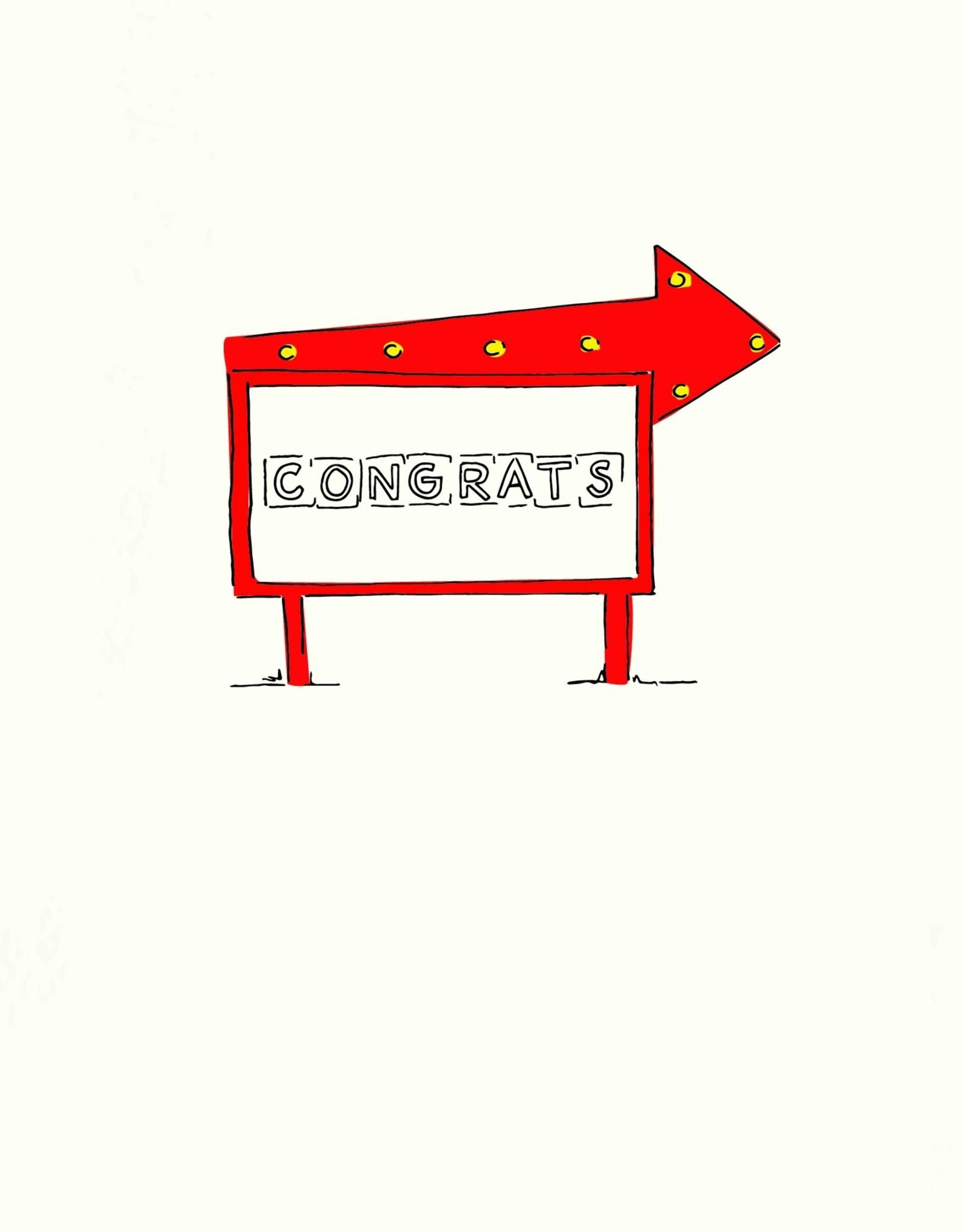 Pop & Paper Card: Congrats - SIgn