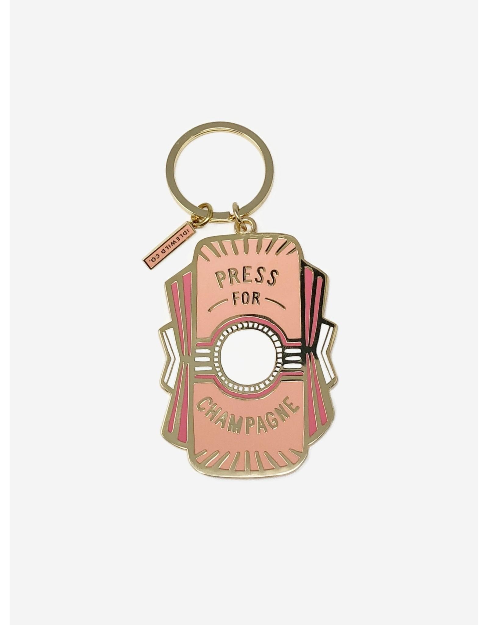 Idlewild Co. Keychain - Press for Champagne