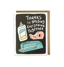 Kat French Boxed Cards - Thank you Holding everything together