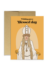Party Mountain Paper Card - Blank: Blessed Day