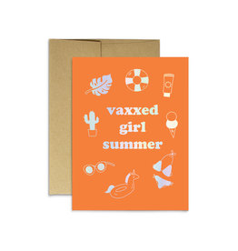 Party Mountain Paper Card - Blank: Vaxxed Girl Summer