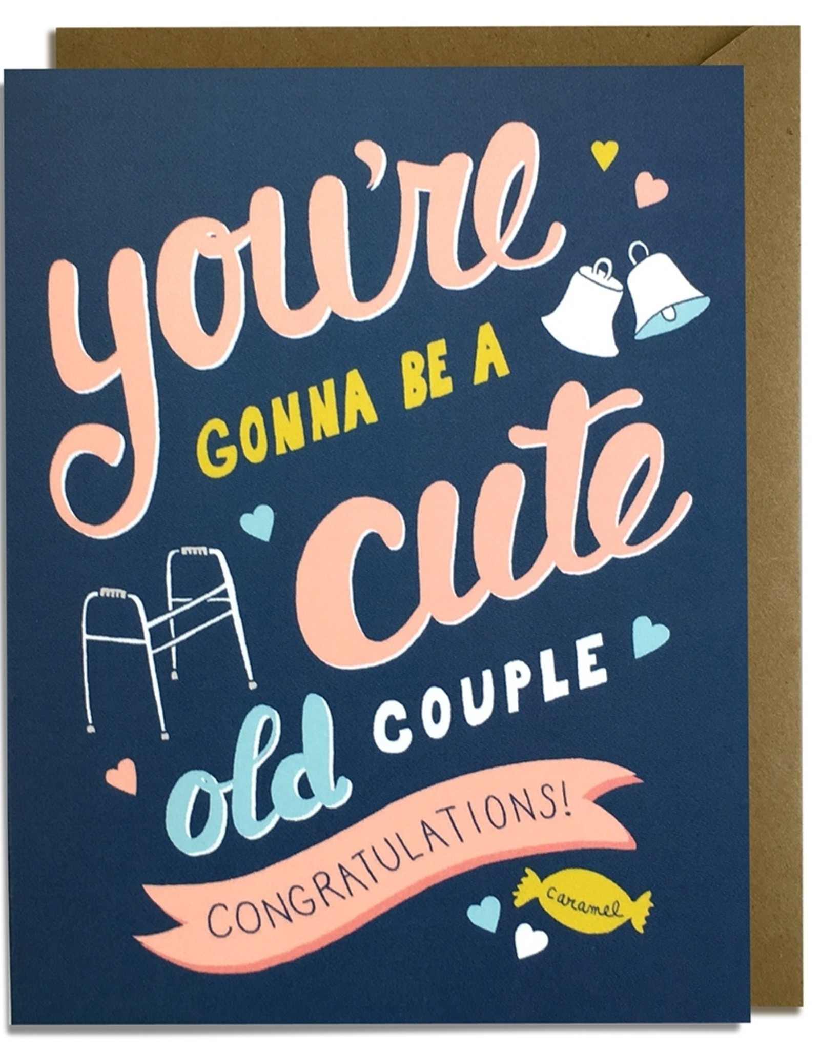Kat French Card - Wedding: Cute Old Couple