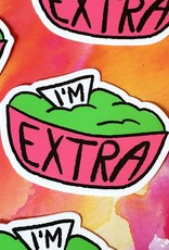Kat French Sticker - I'm extra guac