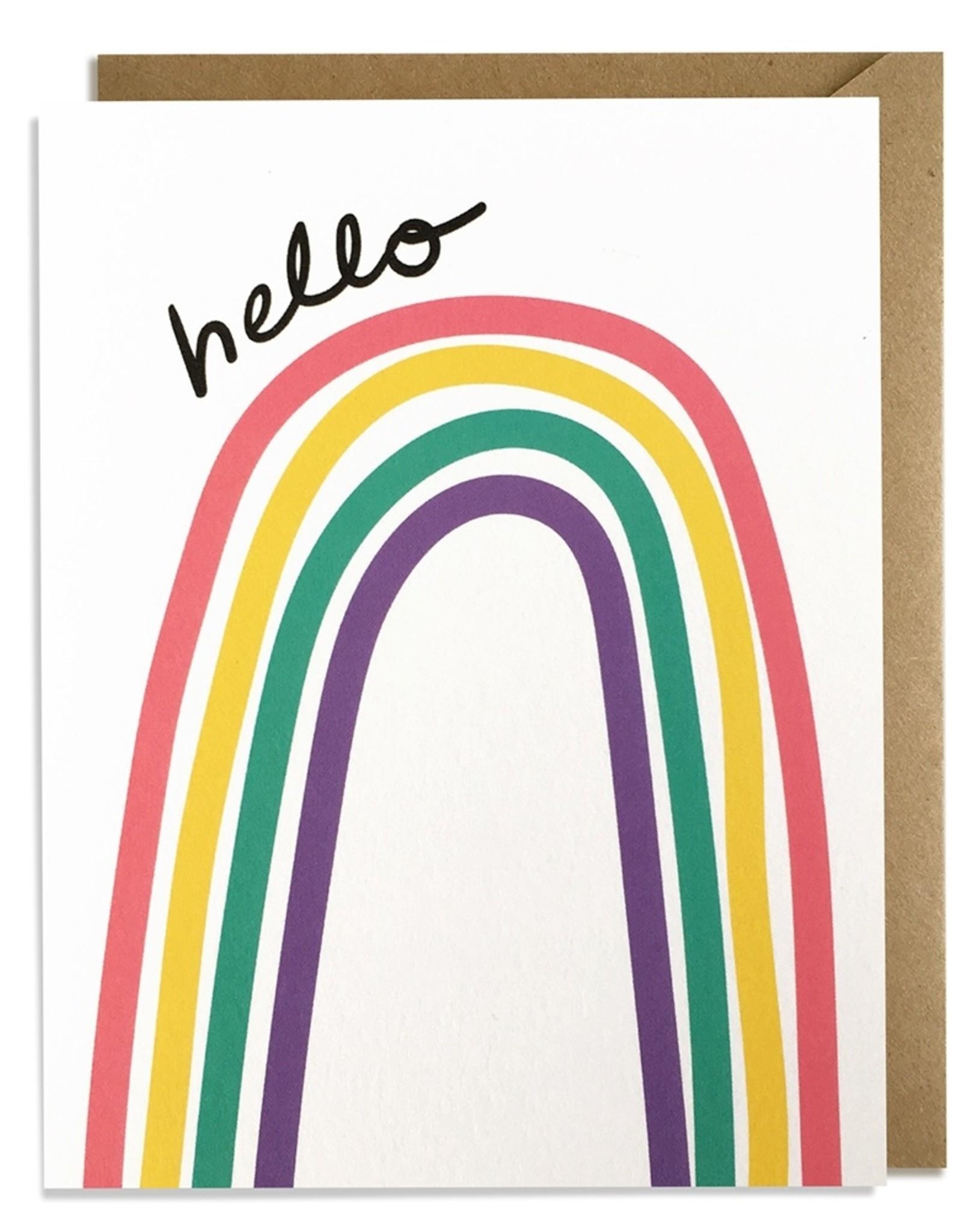 Kat French Card - Blank: Rainbow Hello
