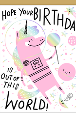 Egg Press Manufacturing Card - Birthday: Out of this world
