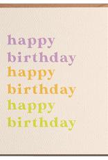 Daydream Prints Card: Birthday - Happy Birthday