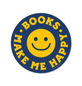 Seltzer Goods Sticker - Happy Books Smiley