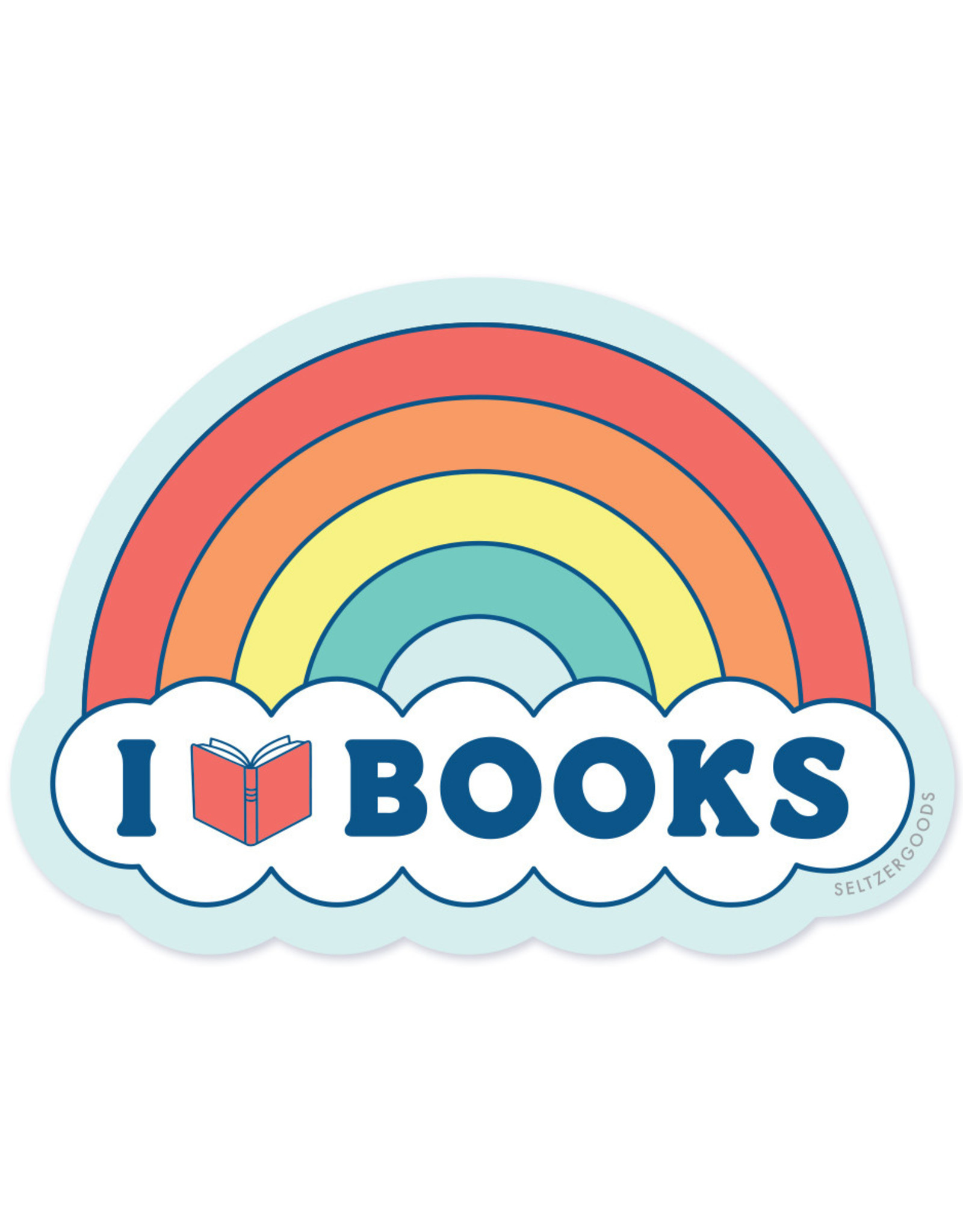 Seltzer Goods Sticker - Rainbow book