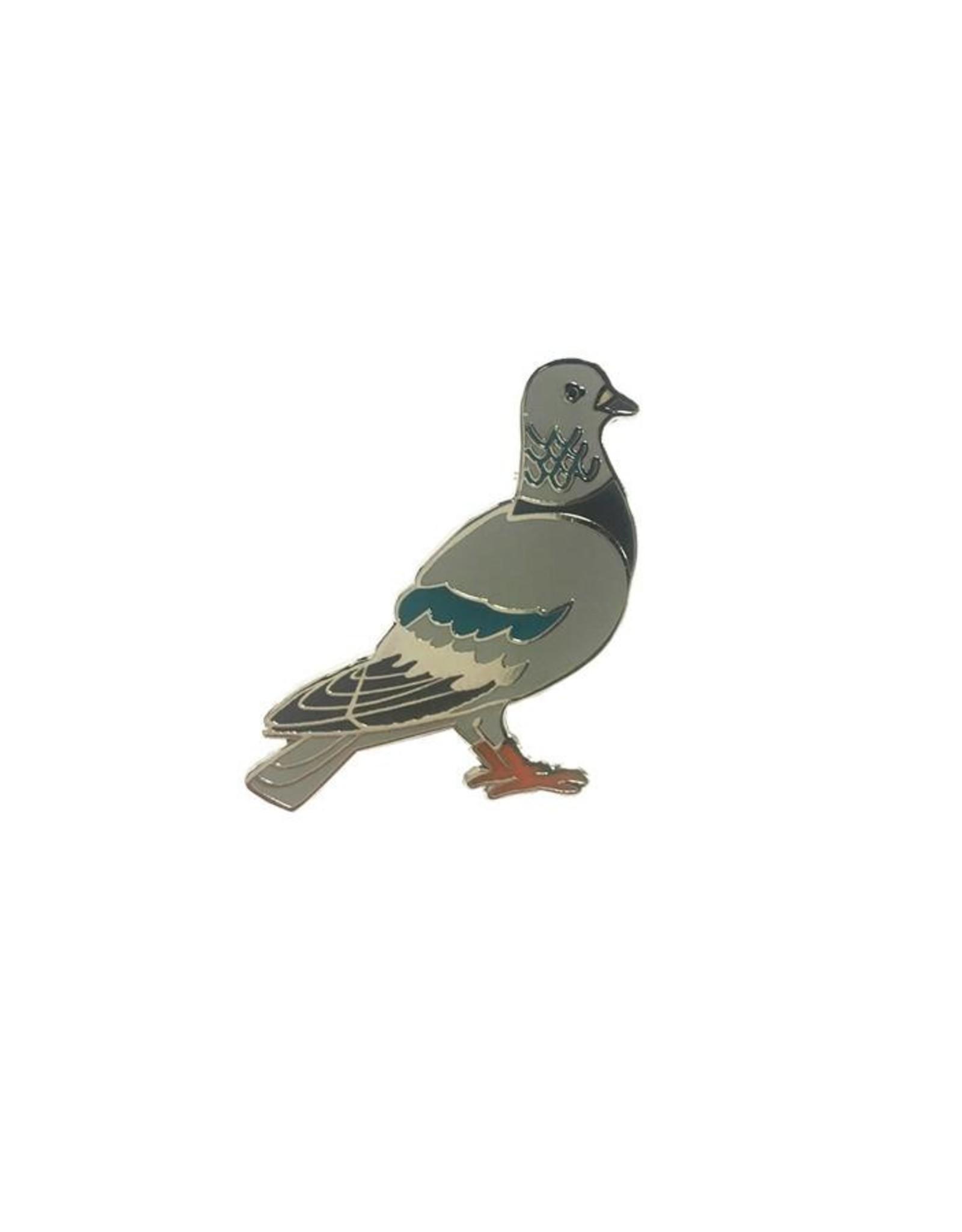 Three Potato Four Enamel Pin - Pigeon