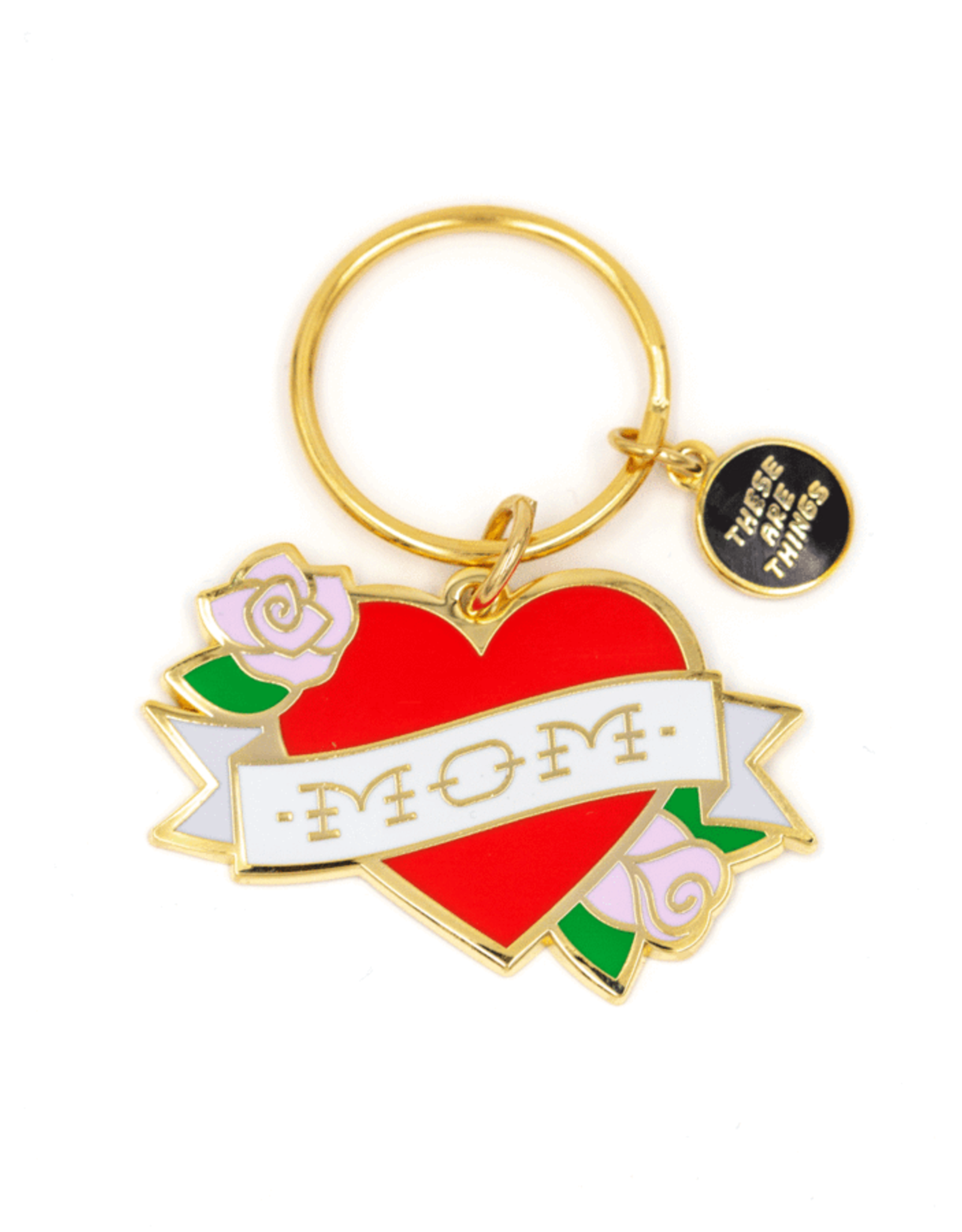 These Are Things Enamel Keychain - Mom Tattoo