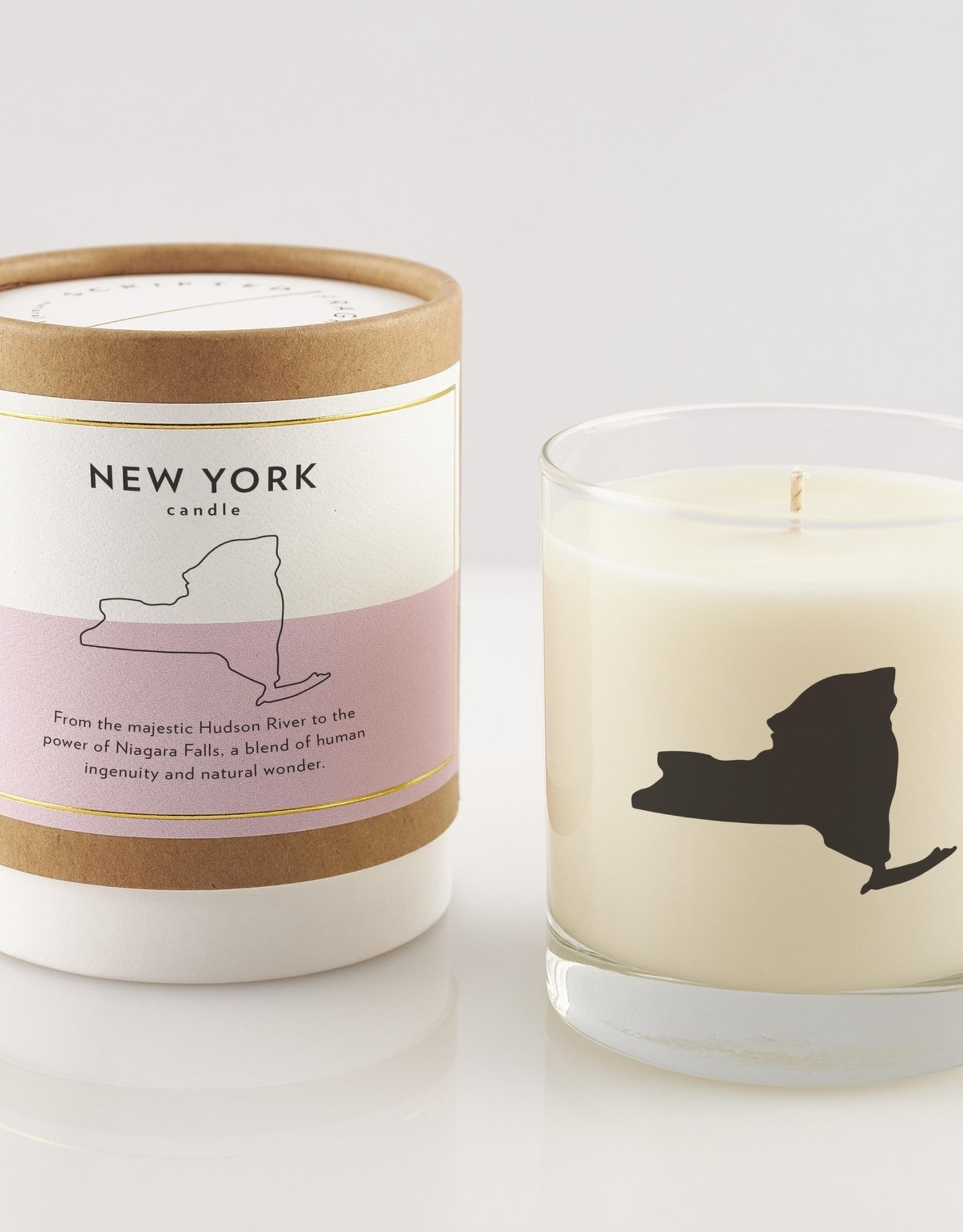 Scripted Fragrance Candle - Soy Glass NY State