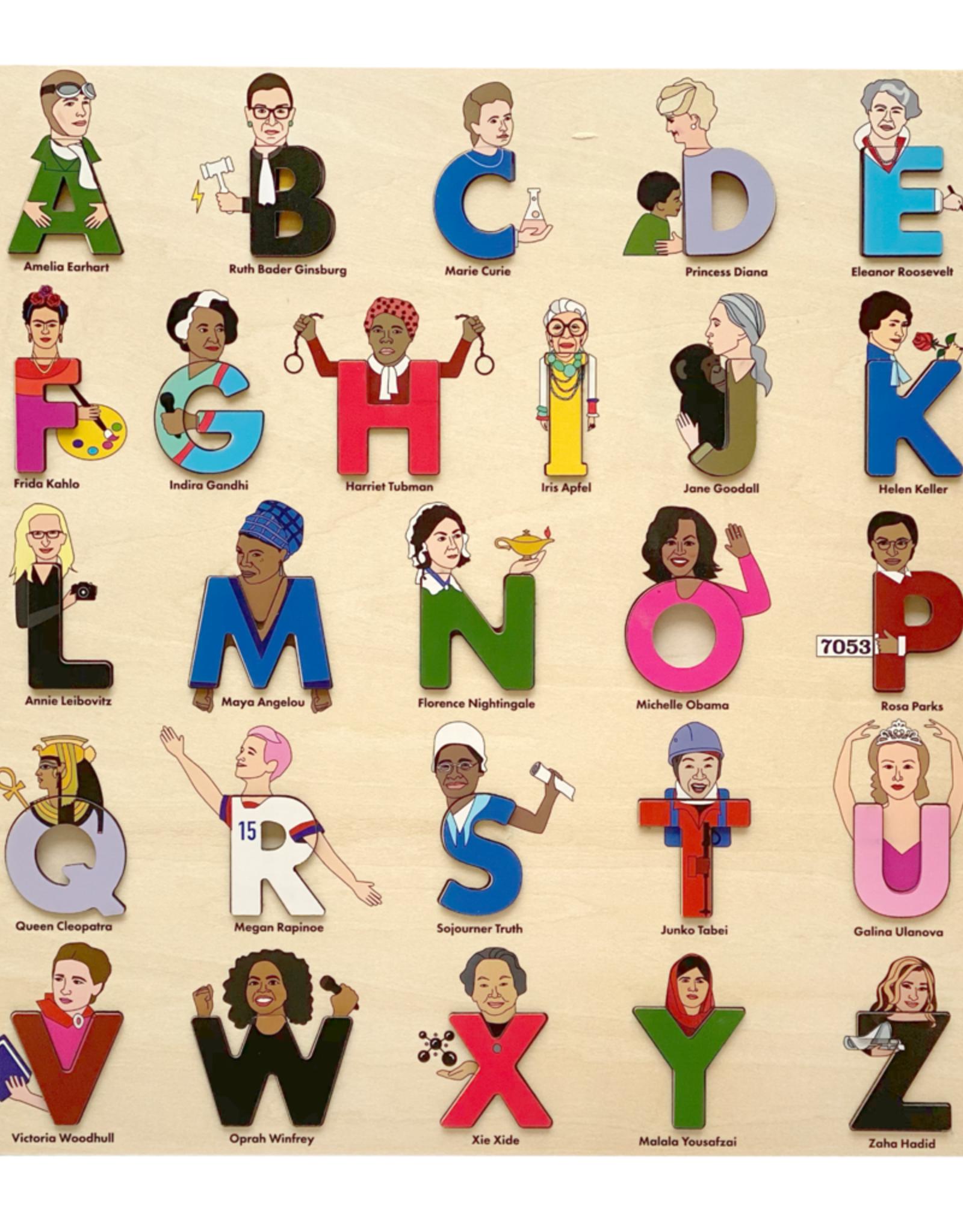 Lady Legends Wooden Alphabet Puzzle