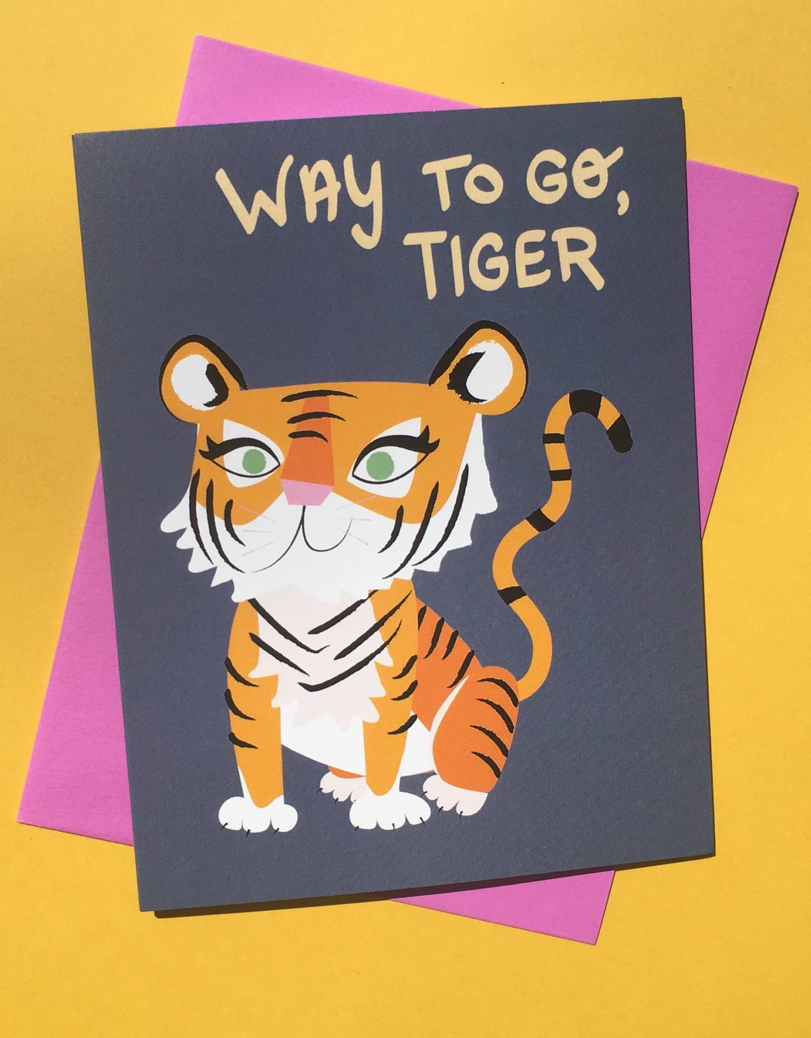 Rhino Parade Card - Blank: Way To Go, Tiger