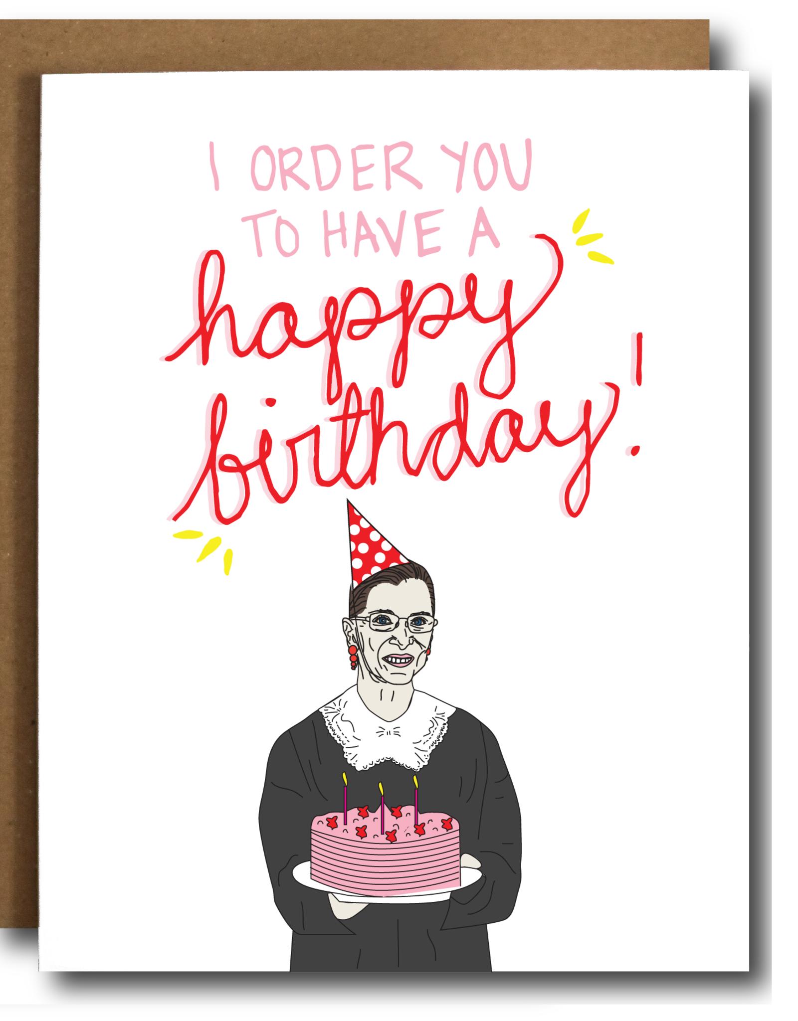 The Card Bureau Card - Birthday: RBG Order You