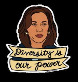 The Card Bureau Sticker - Kamala Harris: Diversity is Our Power