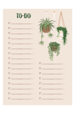 The Card Bureau Hanging Plants To Do List