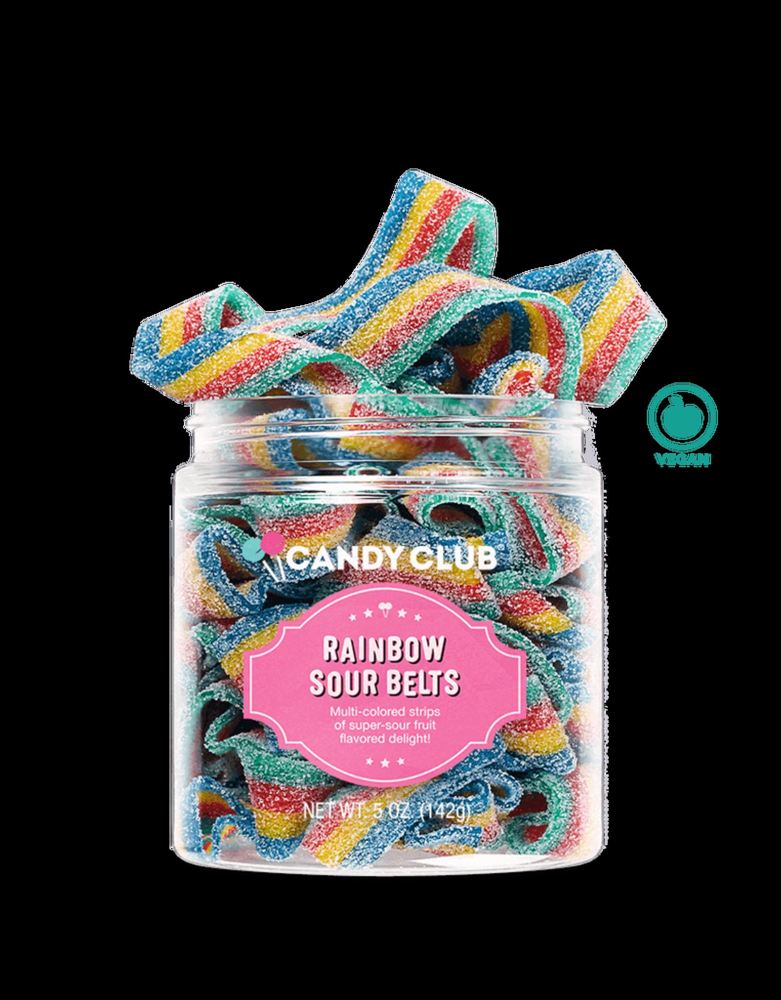 Candy Club Candy Club - Rainbow Sour Belts