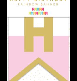 Party Partners Banner - Happy Birthday rainbow