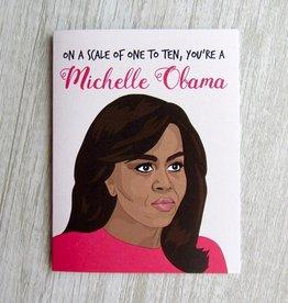 Fem Cards Card - Blank: Michelle Obama 1-10 Card