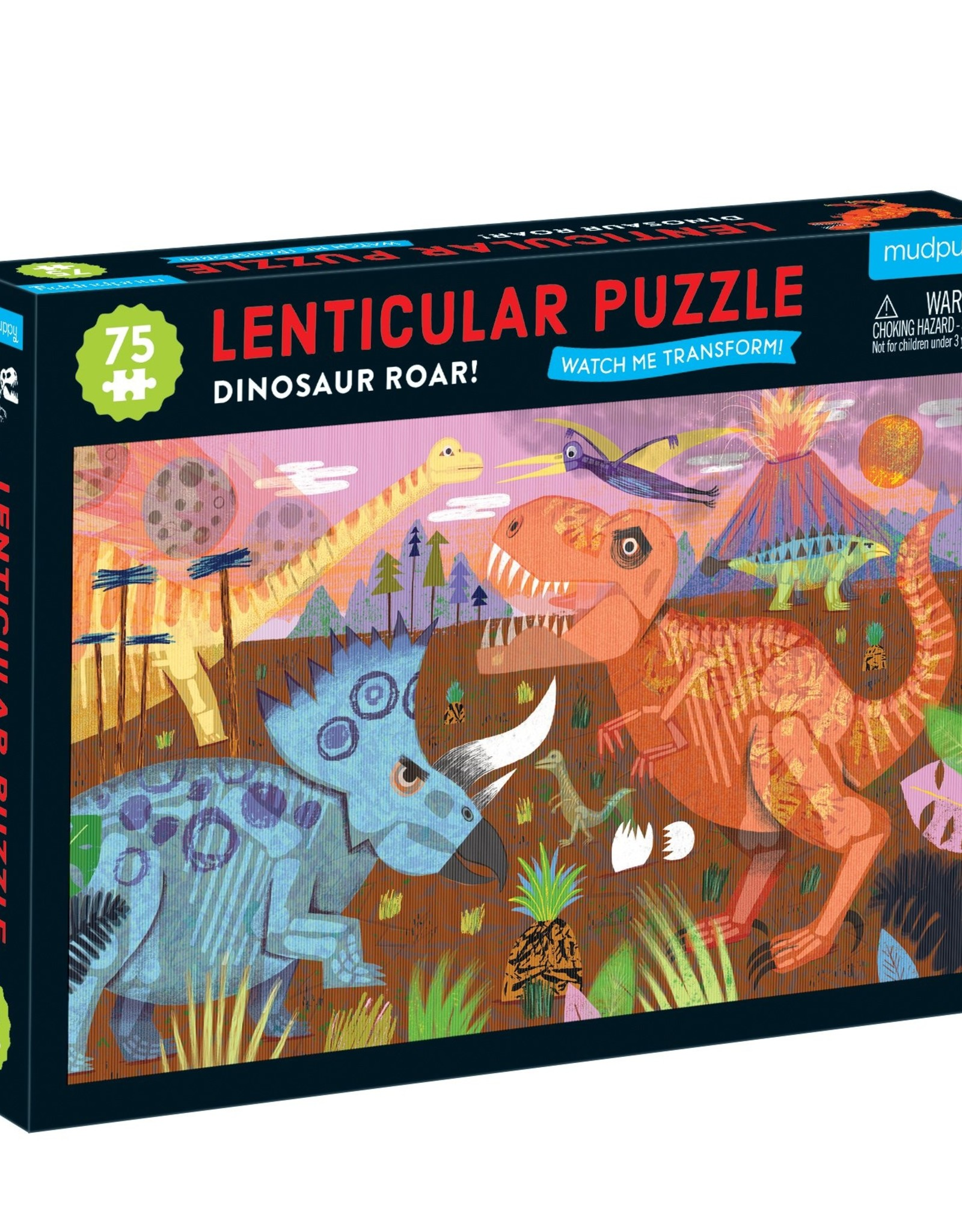 Chronicle Books Lenticular Puzzle - Dinosaur Roar 75 Piece
