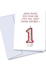 kaleidodope Card - Birthday: You're Number 1