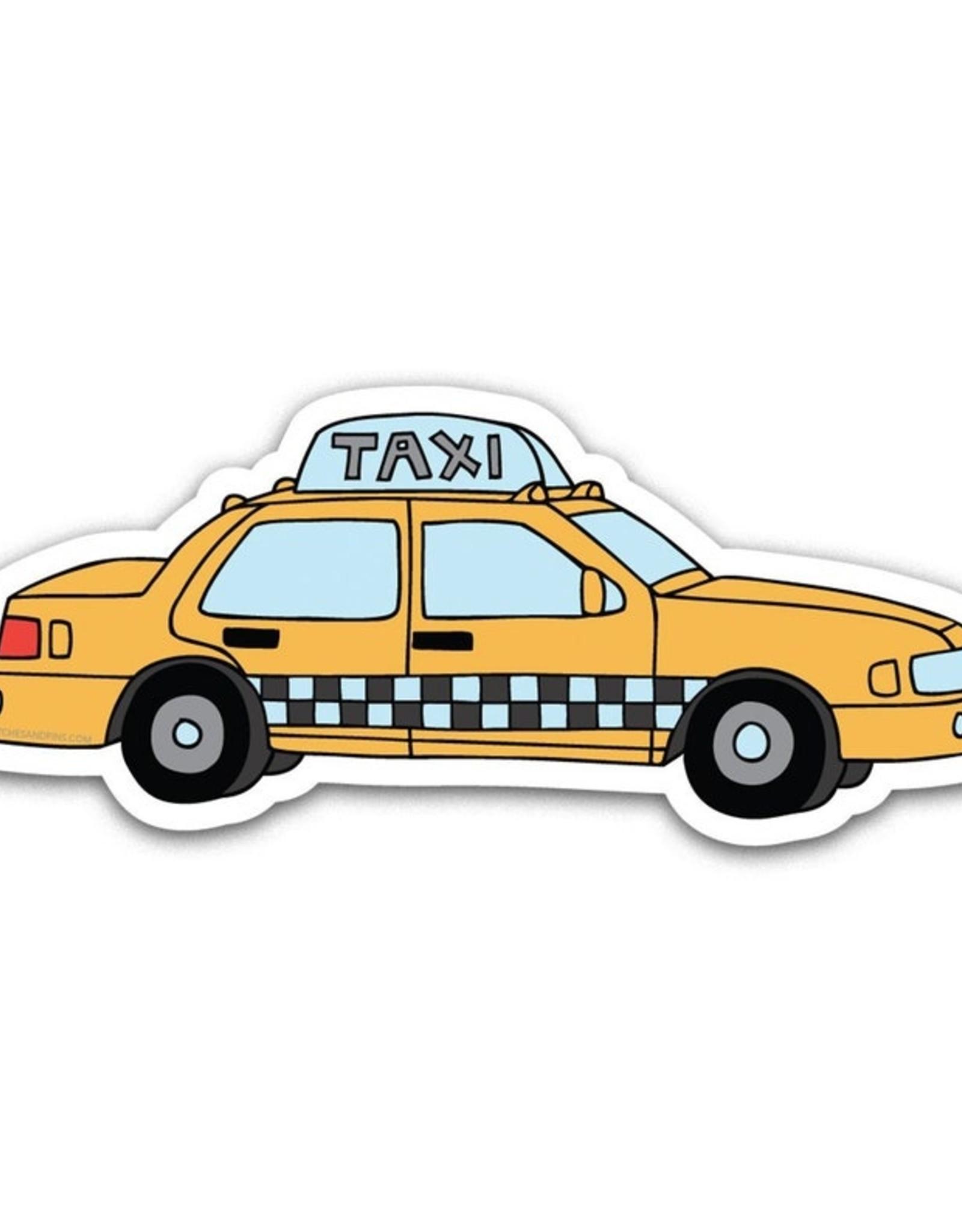 Patches and Pins Sticker - Taxi