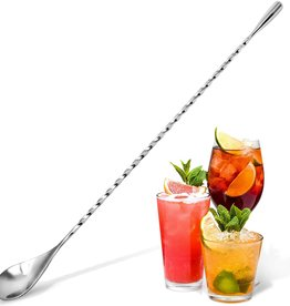 Zulay Kitchen Cocktail Spoon - 12 Inch Stainless Steel