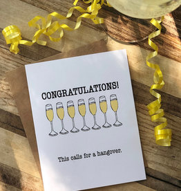 Wild Card Creations Card - Congrats: This Calls For A Hangover