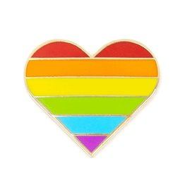 These Are Things Enamel Pin: Rainbow Heart