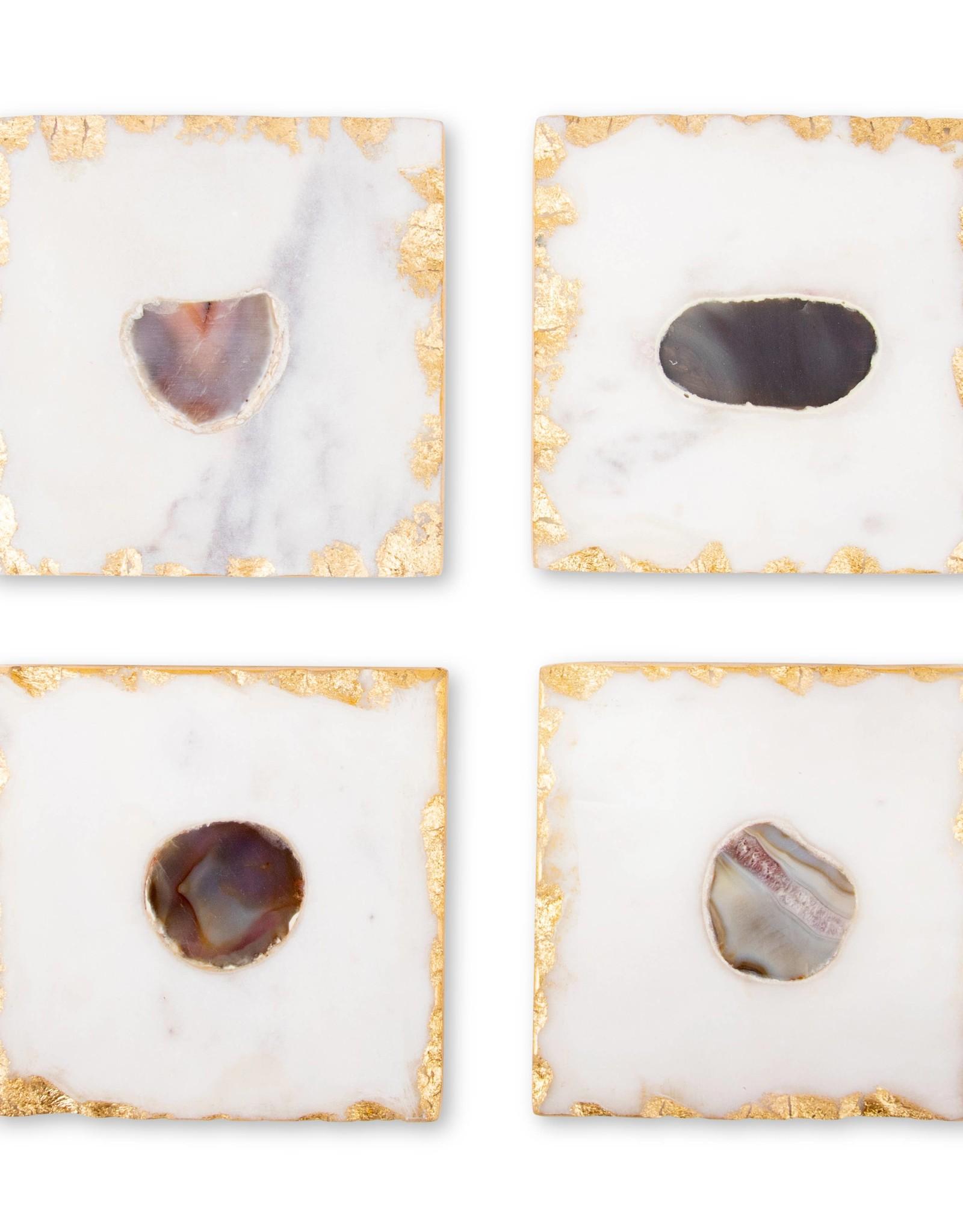 Bezrat Square Marble Coasters