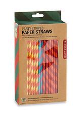 Kikkerland Straws - Colorful stripes Paper (144)